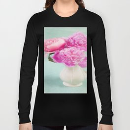 Pastel Peony Bouquet Long Sleeve T-shirt