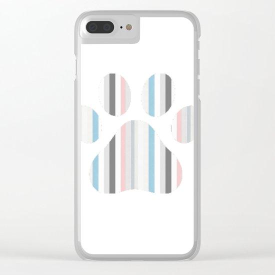 Decorative Paw Print Clear iPhone Case