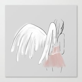 Thank your angels Canvas Print