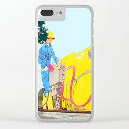 The asphalt cutter Clear iPhone Case