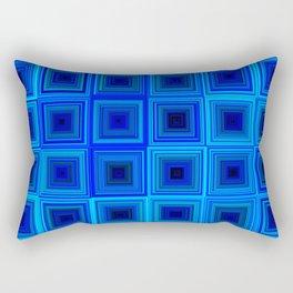 6x6 005 - abstract neon blue pattern Rectangular Pillow