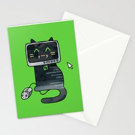 Programmer cat  makes a website Stationery Cards
