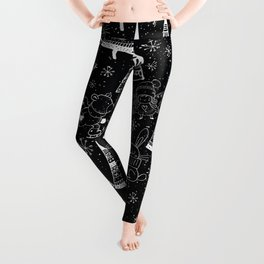 Merry Christmas-Simple X-mas Fun Winter Forest Doodle-Mix and Match with Simplicity of Life Leggings