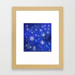 Chillin flakes Framed Art Print