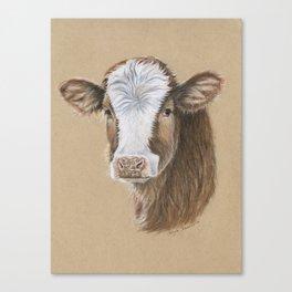 Go Vegan Calf Canvas Print