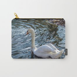 White swan with black feet Carry-All Pouch