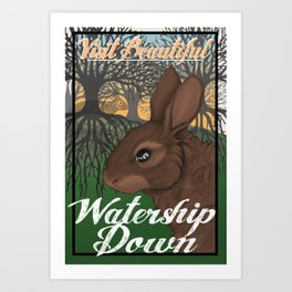 Visit Beautiful Watership Down Art Print