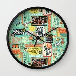 Farmer's Market Fun Wall Clock