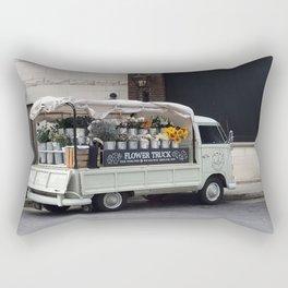 Flower Truck Rectangular Pillow