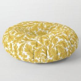 William Morris Oak Leaves, Mustard Yellow & White Floor Pillow