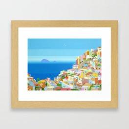 VIDIGAL FAVELA IN RIO Framed Art Print