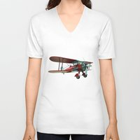 wings V-neck T-shirts featuring Wings by JoelAndersson