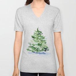 Watercolor Pine Tree Unisex V-Neck