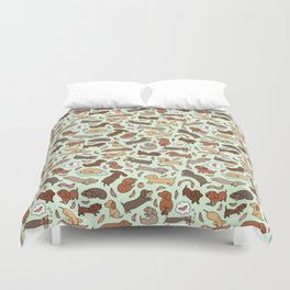 Wiener Dog Wonderland Duvet Cover