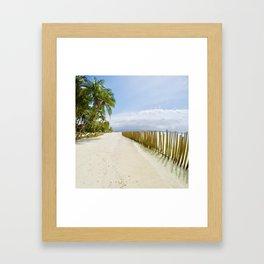 Boracay Sunshine walk Framed Art Print