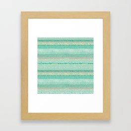 Little Textured Dots Greeen Framed Art Print