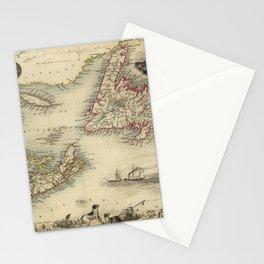 Map of Newfoundland 1851 Stationery Cards