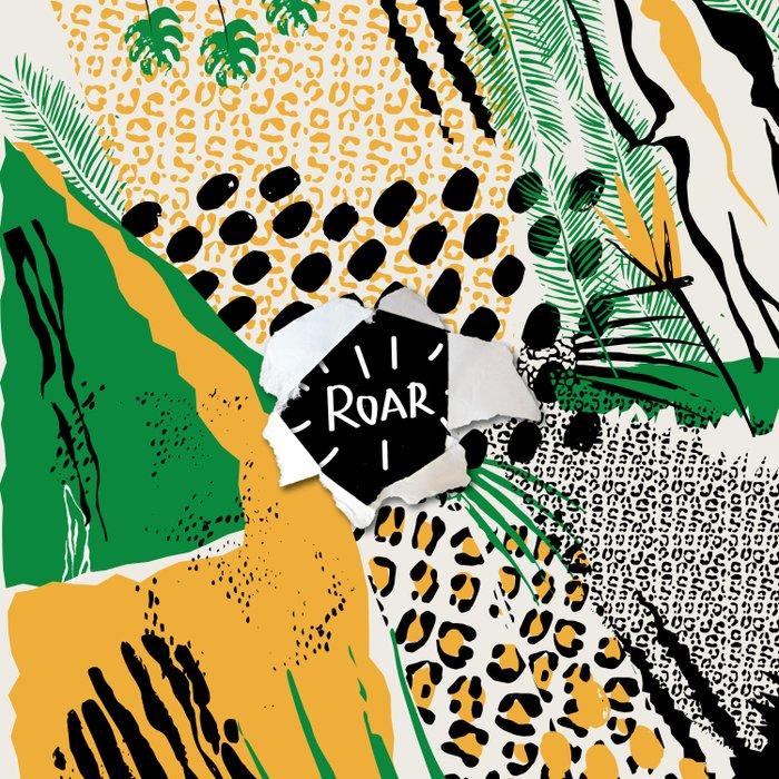 ROAR (wild cats) Duvet Cover