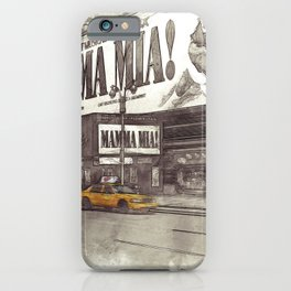 NYC Yellow Cabs Musical - SKETCH iPhone Case