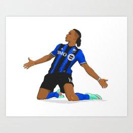 Didier Drogba Celebration Art Print