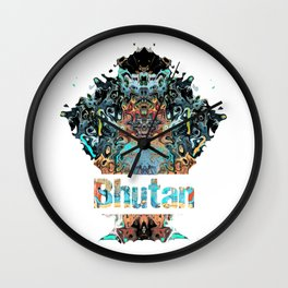 Bhutan Awesome Country gift Wall Clock