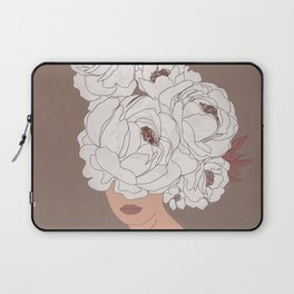 Woman with Peonies Laptop Sleeve