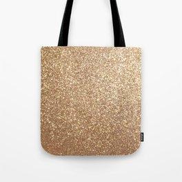 Copper Rose Gold Metallic Glitter Tote Bag