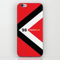 f1 iPhone & iPod Skins featuring F1 2015 - #98 Merhi by MS80 Design