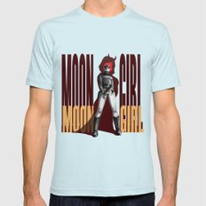 Moon Girl Epic Mens Fitted Tee Light Blue SMALL