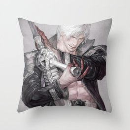 Devil of the tiger Throw Pillow