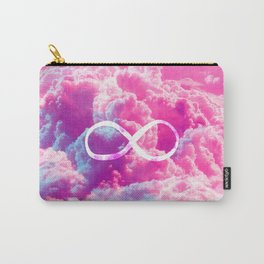 Girly Infinity Symbol Bright Pink Clouds Sky Carry-All Pouch