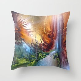 Fantasy Painting Landscape Mystical Throw Pillow