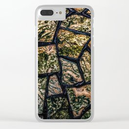Colorful stainglass pattern Clear iPhone Case