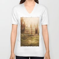 forrest gump V-neck T-shirts featuring Forrest by Terri Ellis