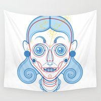 rare Wall Tapestries featuring A Rare Girl by Ukko