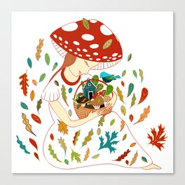 Autumn Women Canvas Print