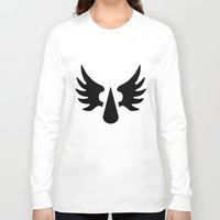 warhammer Long Sleeve T-shirts featuring Warhammer 40k Blood Angels Minimalist Poster by Milos Cakovan