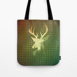Golden Deer Abstract Footprints Landscape Design Tote Bag