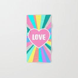 Love Colour Burst Hand & Bath Towel