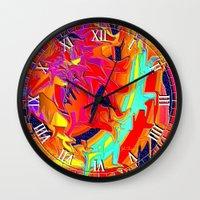 chakra Wall Clocks featuring Chakra by JT Digital Art
