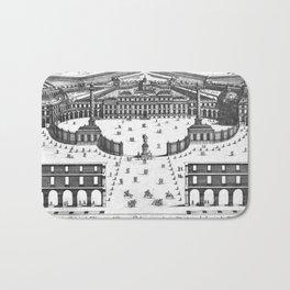 Veüe du Palais de Monsieur l'Electeur Palatin pour batir a Manheim du dessein du Sr. Marot 1670 Bath Mat