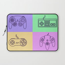 Nintendo Gaming Controllers - Retro Style! Laptop Sleeve
