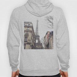 Paris streets, Eiffel tower, city skyline, industrial fine art photo, shabby chic Hoody