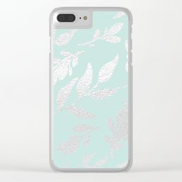 Patchwork Plants: Silver Leaf Clear iPhone Case