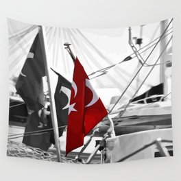 Flag of Turkey - Selective Coloring Wall Tapestry