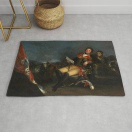 "Francisco Goya ""Portrait of Manuel Godoy"" Rug"