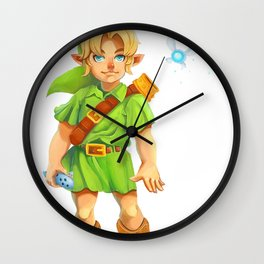 A Boy and His Fairy Wall Clock
