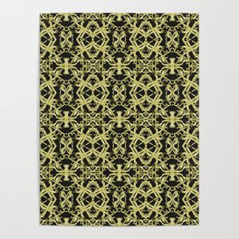 Golden Ornate Intricate Pattern Poster