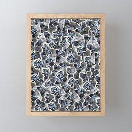 Floral Lettering. Framed Mini Art Print