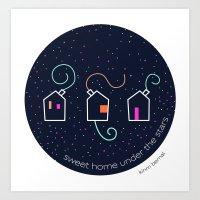 Sweet home under the stars Art Print
